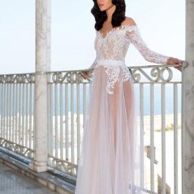 שמלת כלה כתף חשופה