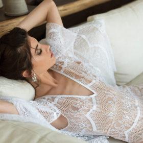חליפת כלה - אוברול תחרה סקסי