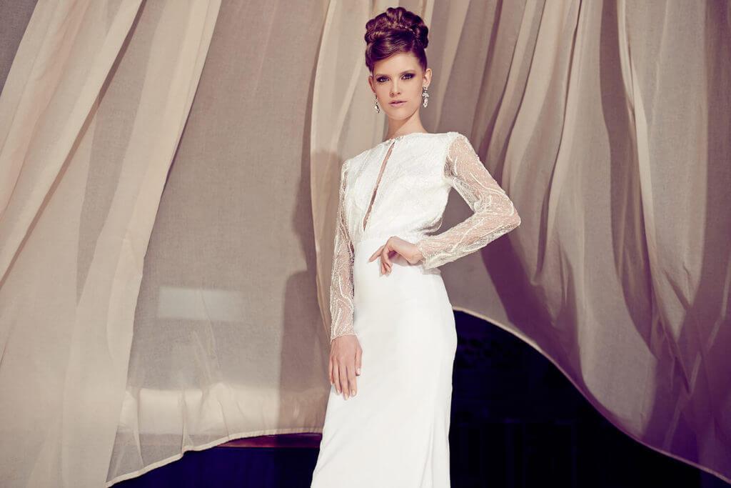 שמלת כלה צנועה ומדהימה - הילה כהן