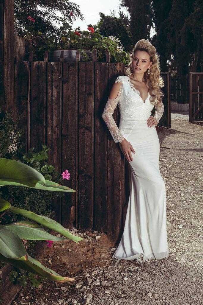 עיצוב שמלת כלה לבנה